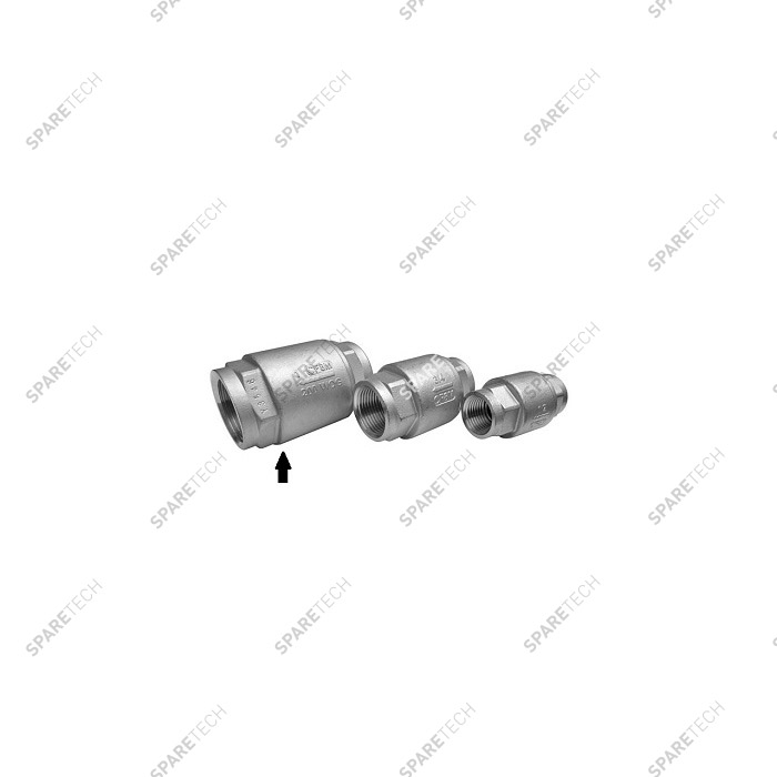 "Stainless steel check valve FF 1"" low pressure"