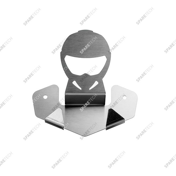Stainless steel helmet and jacket holder