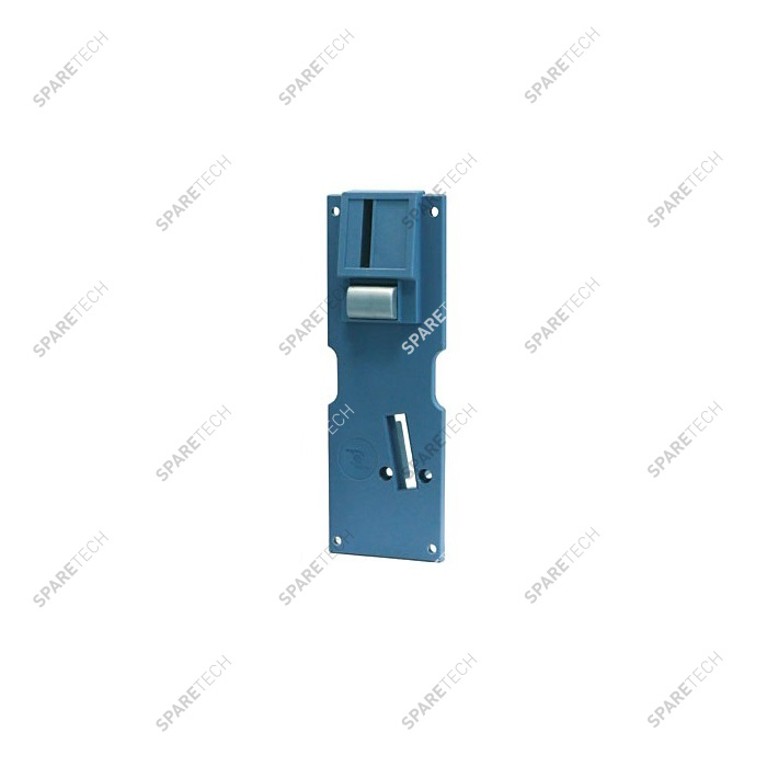 Front plate for coin acceptor large model F3 blue