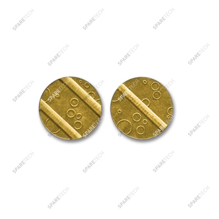 Brass token 25x2mm with 3 grooves (2+1)