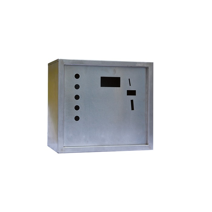Control box with lock on the right side