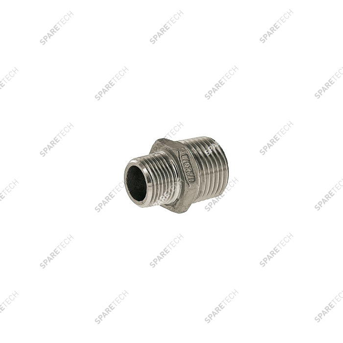 "Pipe reducer M1/2"" M3/8"" stainless steel"