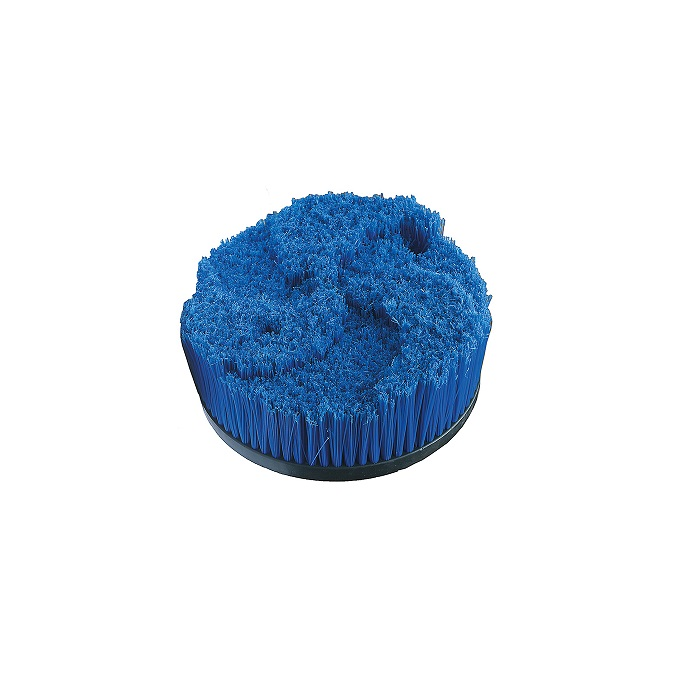 Blue round brush for wheels D40cm