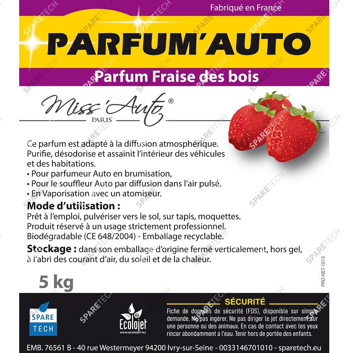 Car perfume Wild Strawberry, 5kg