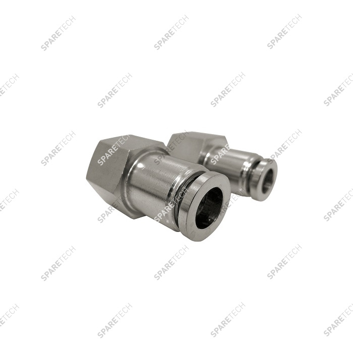 "Straight connection stainless steel F1/4"" for 6-8mm hose"