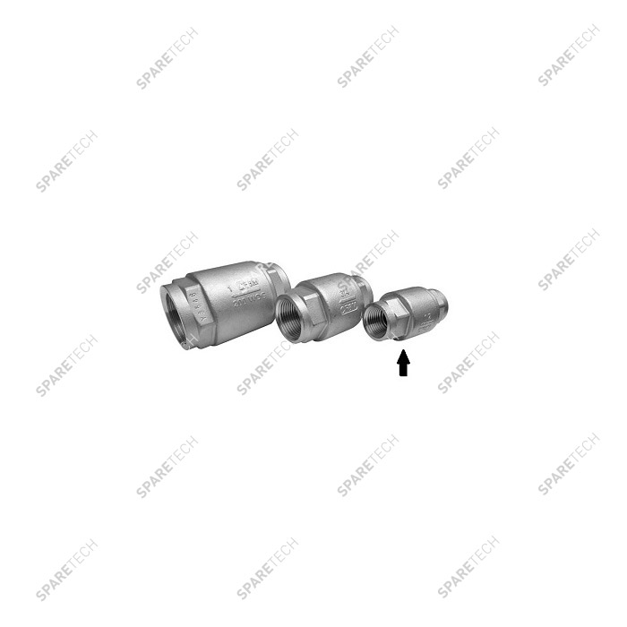 "Stainless steel check valve FF1/2"" low pressure"