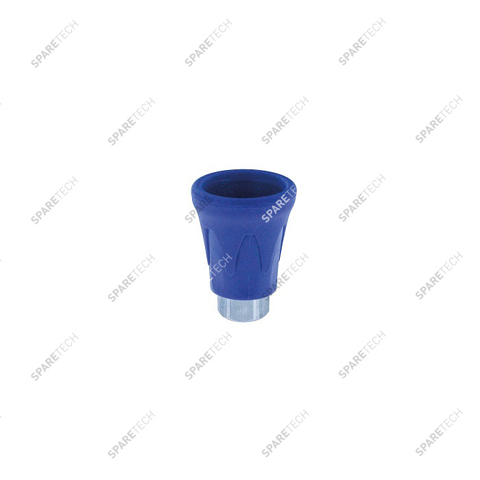 Blue PVC nozzle protection and stainless steel nozzle holder F1/4""