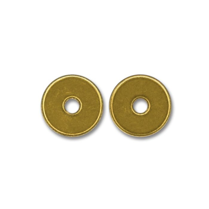 Brass token with hole 22X2mm (per 100)