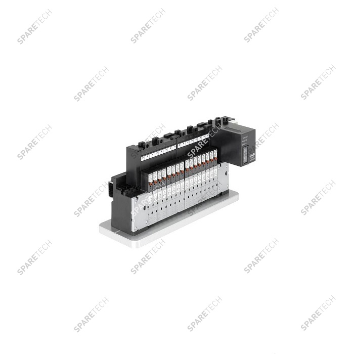Modular pneumatic valve unit, 16 positions, for 6mm hoses