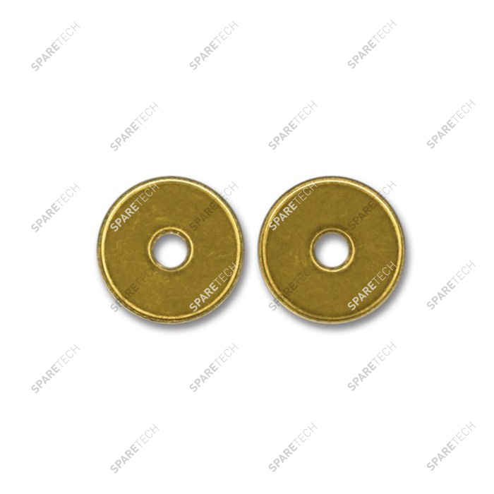 Brass token 25.7x1.8mm with D6mm hole