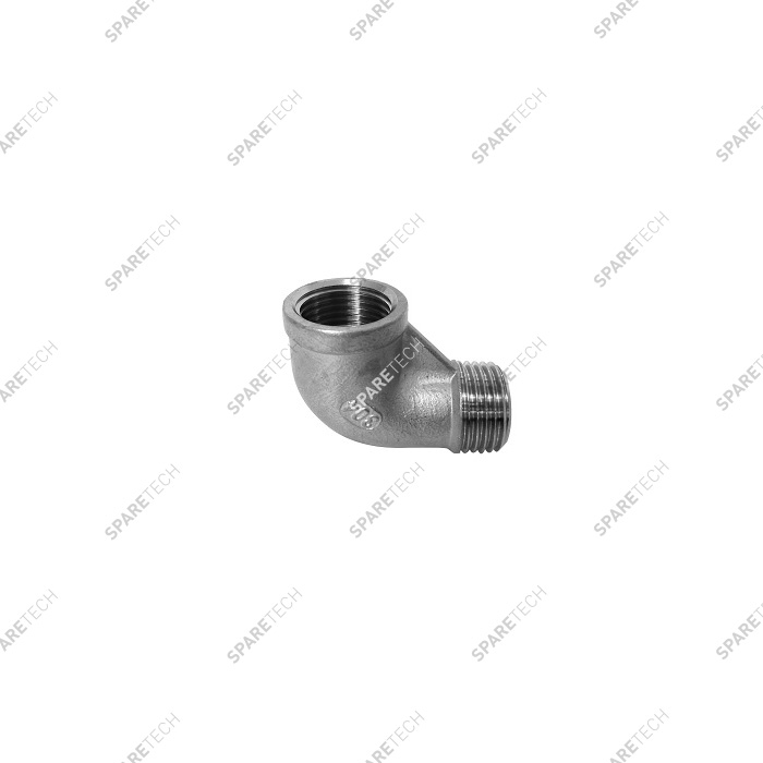 Stainless steel 90° elbow MF1/2""