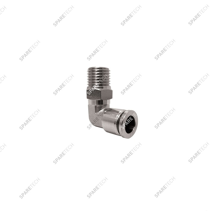 "Elbow, stainless steel, M1/4"" for 6-8mm hose"