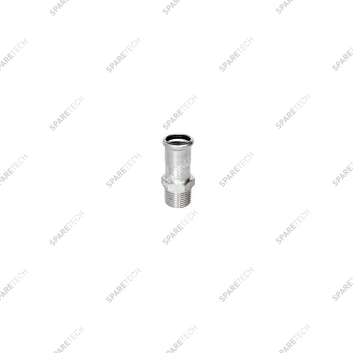 Adaptor D18 to press with 1 thread end M1/2""