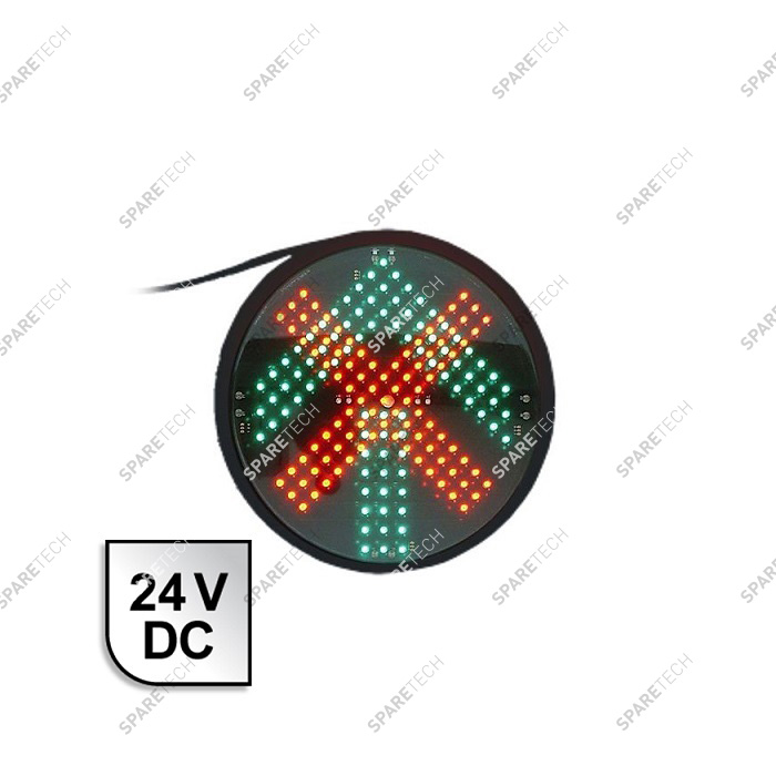 Green arrow + red cross LED light, 24VDC, D.200mm