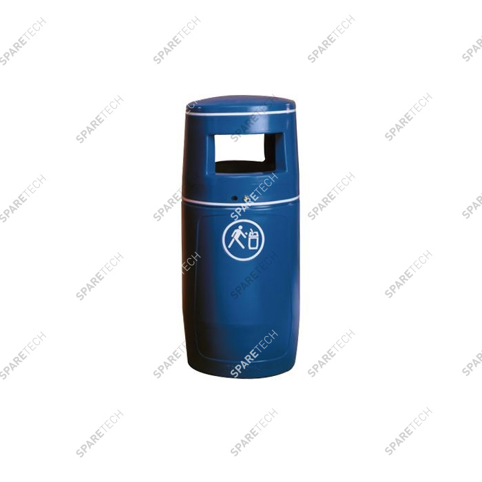 Blue litter bin 90L (without inner bucket) RAL5019
