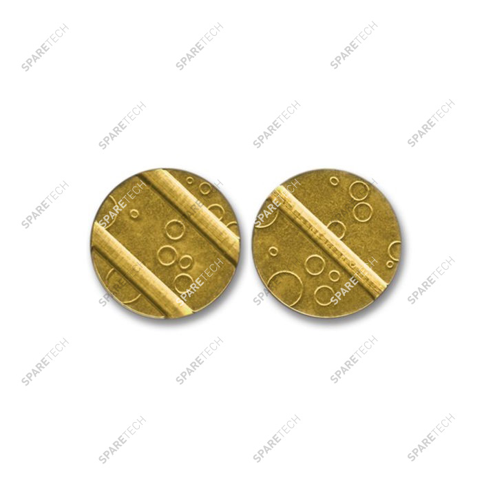 Brass token 27x2mm with 3 grooves (2+1)