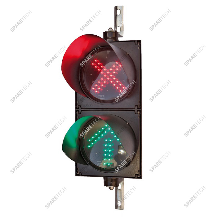 Double cabinet with green arrow and red cross light 220V, 50 X 25cm