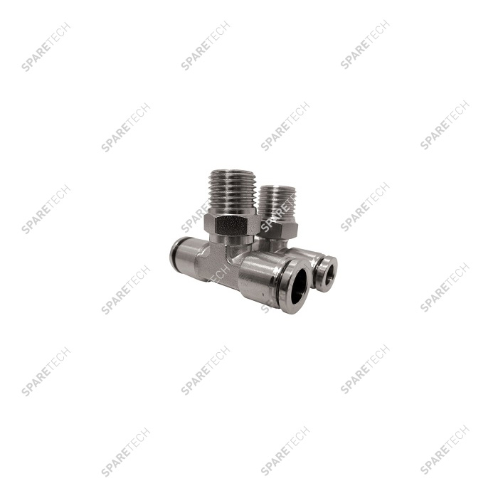 "T connection, stainless steel, M1/4"" for 6-8mm hose"