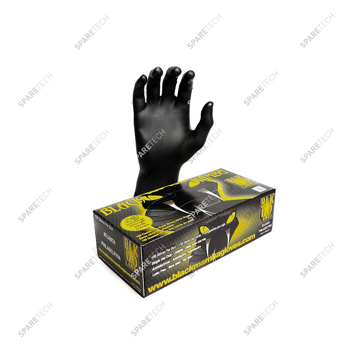 Nitrile gloves Black mamba resistant to chemical products, size XL