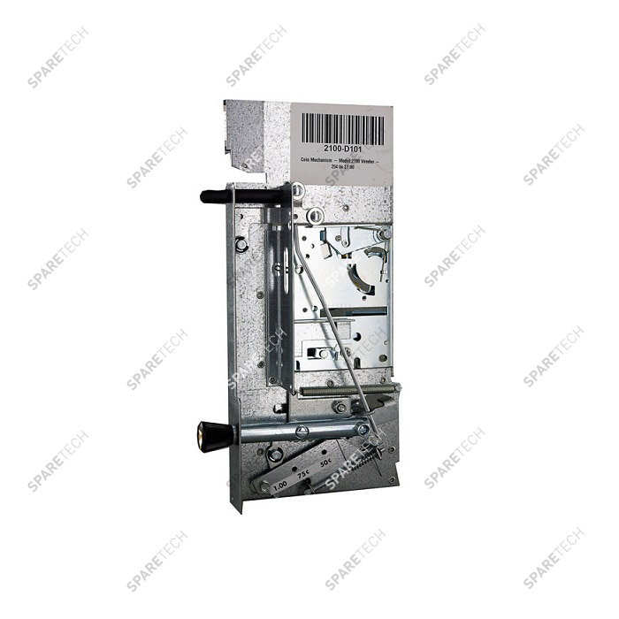 Coin mechanism acceptor for 1€ coin