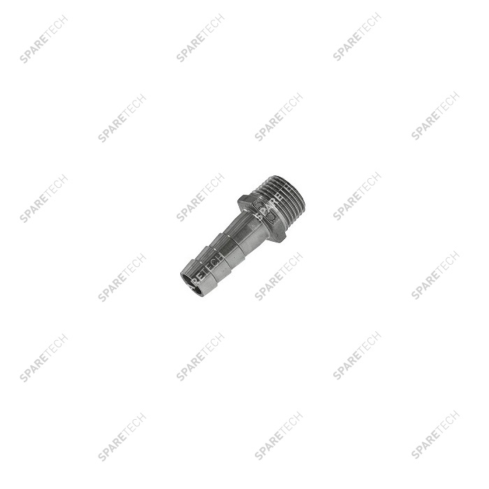 "Stainless steel hose barb fitting M1/2"" DN12"