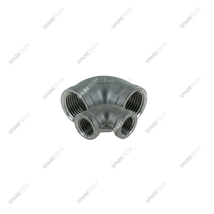 Stainless steel 90° elbow FF1/4""