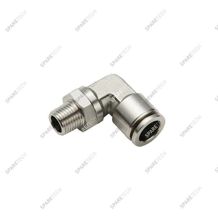 "Elbow, stainless steel, M1/4"" for 4-6mm hose"