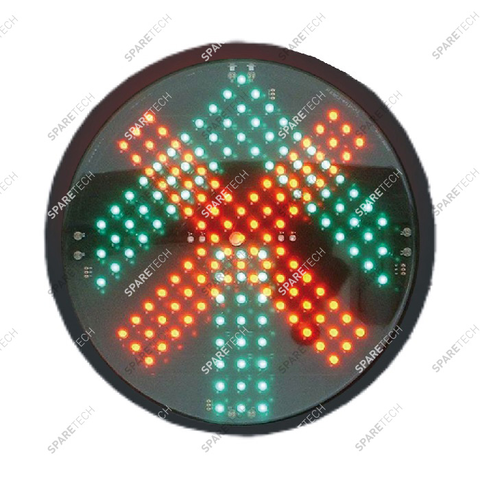 Green arrow + red cross LED light, 220V D.200mm