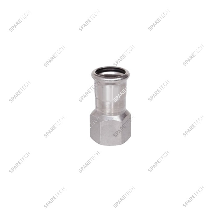 Adaptor D18 to press and  1 thread end F1/2""