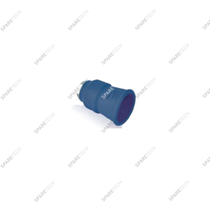 Blue nozzle protector and nozzle holder