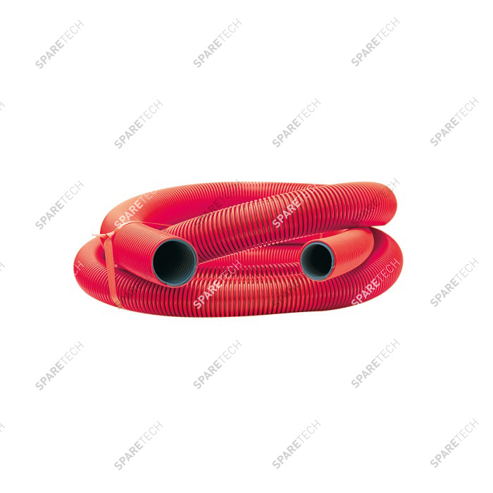 Red conic hose D38/51mm, 5m, smooth interior