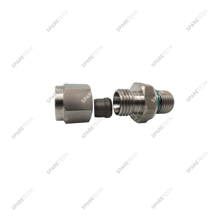 Single olive screw coupling F1/4'' for DN8mm pipe