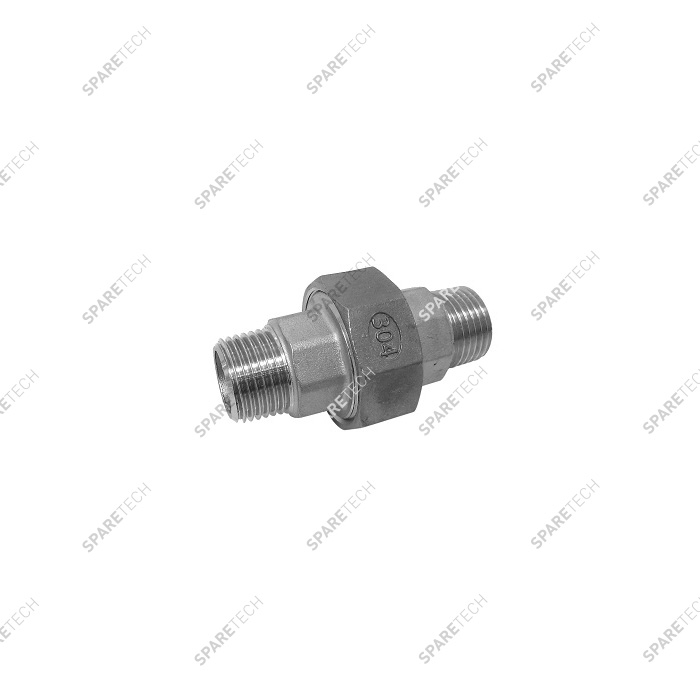 Stainless steel conical union nipple MM1/2""