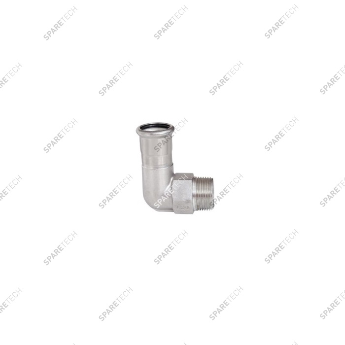 90° elbow D22 with one thread end M3/4""