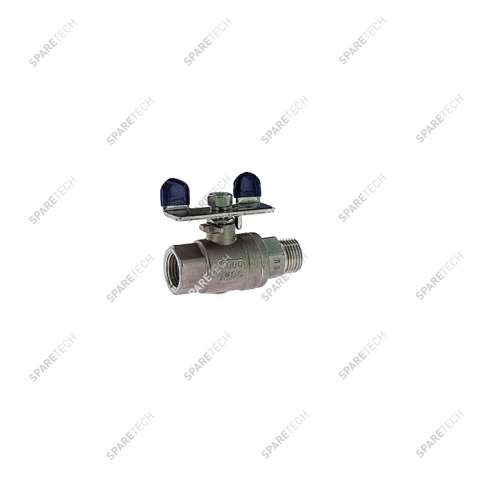 "Stainless steel ball valve MF1/2"" with a mini ""T"" handle"
