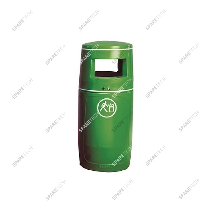 Green litter bin 90L (without inner bucket) RAL6018