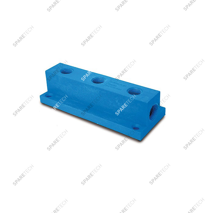 "Nylon blue manyfold F1/2"" for wheel cleaner product"