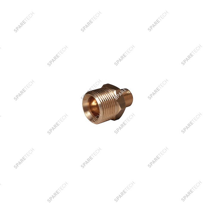 Male hex pipe reducer for retractable brush lance M22x1.5 M1/4""