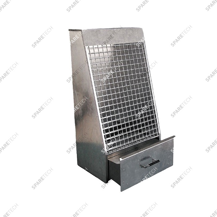 Mat slap in galvanized steel with drawer 110x50x30cm