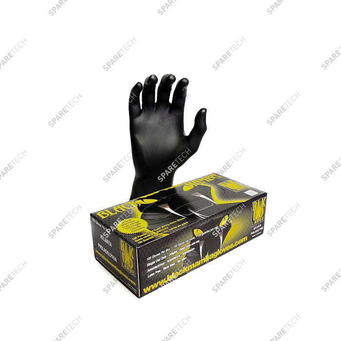 Nitrile gloves Black Mamba resistant to chemical products, size L