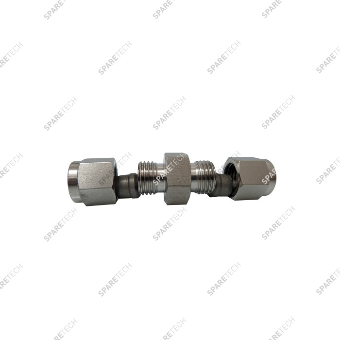 Dual olive screw coupling, doppelt, for DN8 pipe