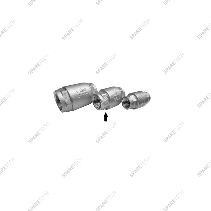 Stainless steel check valve FF3/4'' low pressure