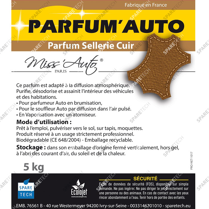 Car perfume Leather, 5kg