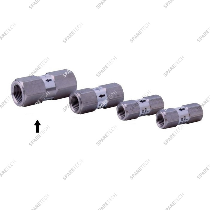 High Pressure Stainless steel check valve FF1/2'' (VITON), P.A.
