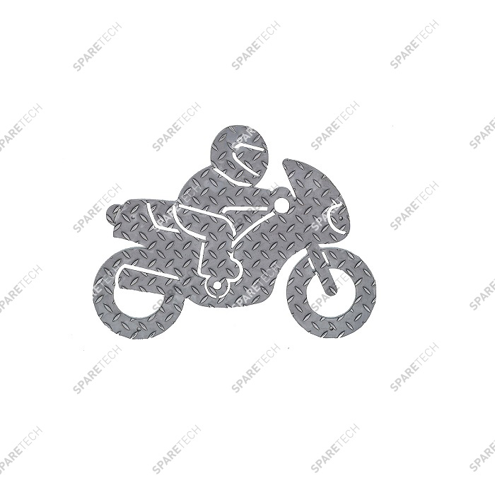 Stainless steel motorbike holding plate for fixing on the grating