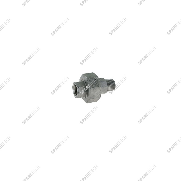 Stainless steel conical union nipple MF1/4""