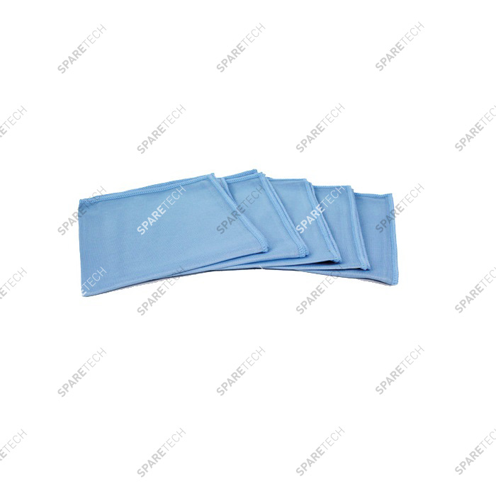 Blue microfiber towel special for glass - 40 X 40cm 300g/m² (5 units)