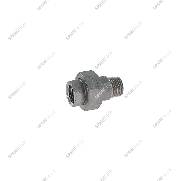 Stainless steel conical union nipple MF1/2""