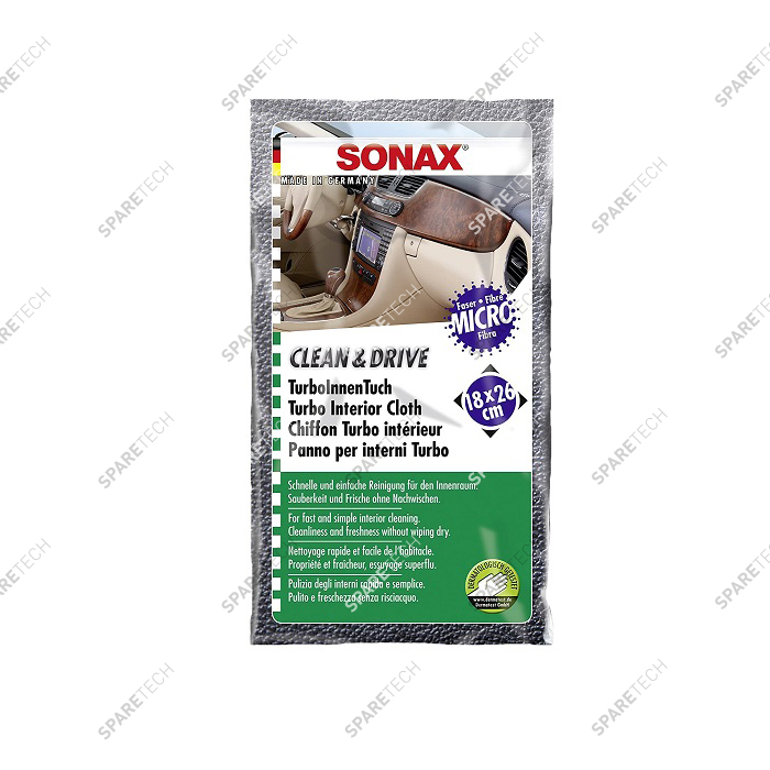 Cleaning cloth Turbo Interior SONAX 18x26cm (carton of 400)
