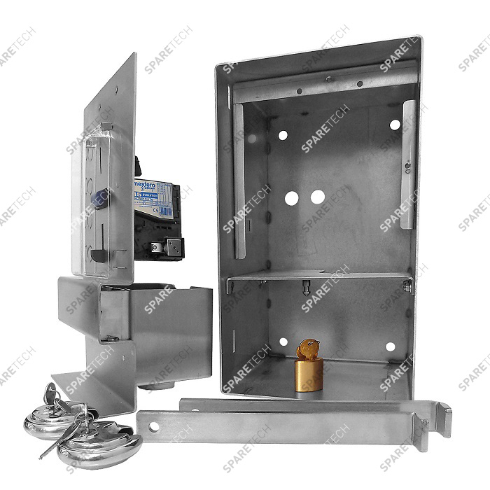 Control box with RM5 coin acceptor and accessories